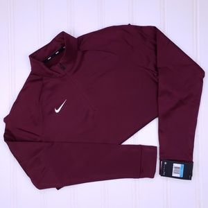 Nike Womens Pullover Medium New Nwt Deep Maroon M
